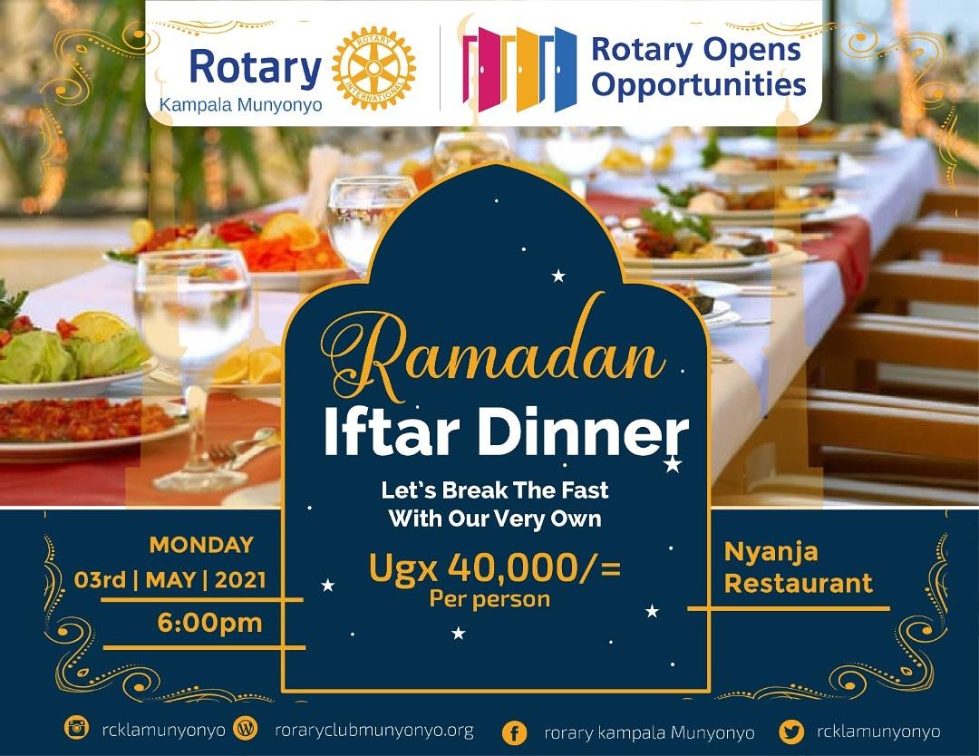 Iftar Dinner at RC Kampala Munyonyo